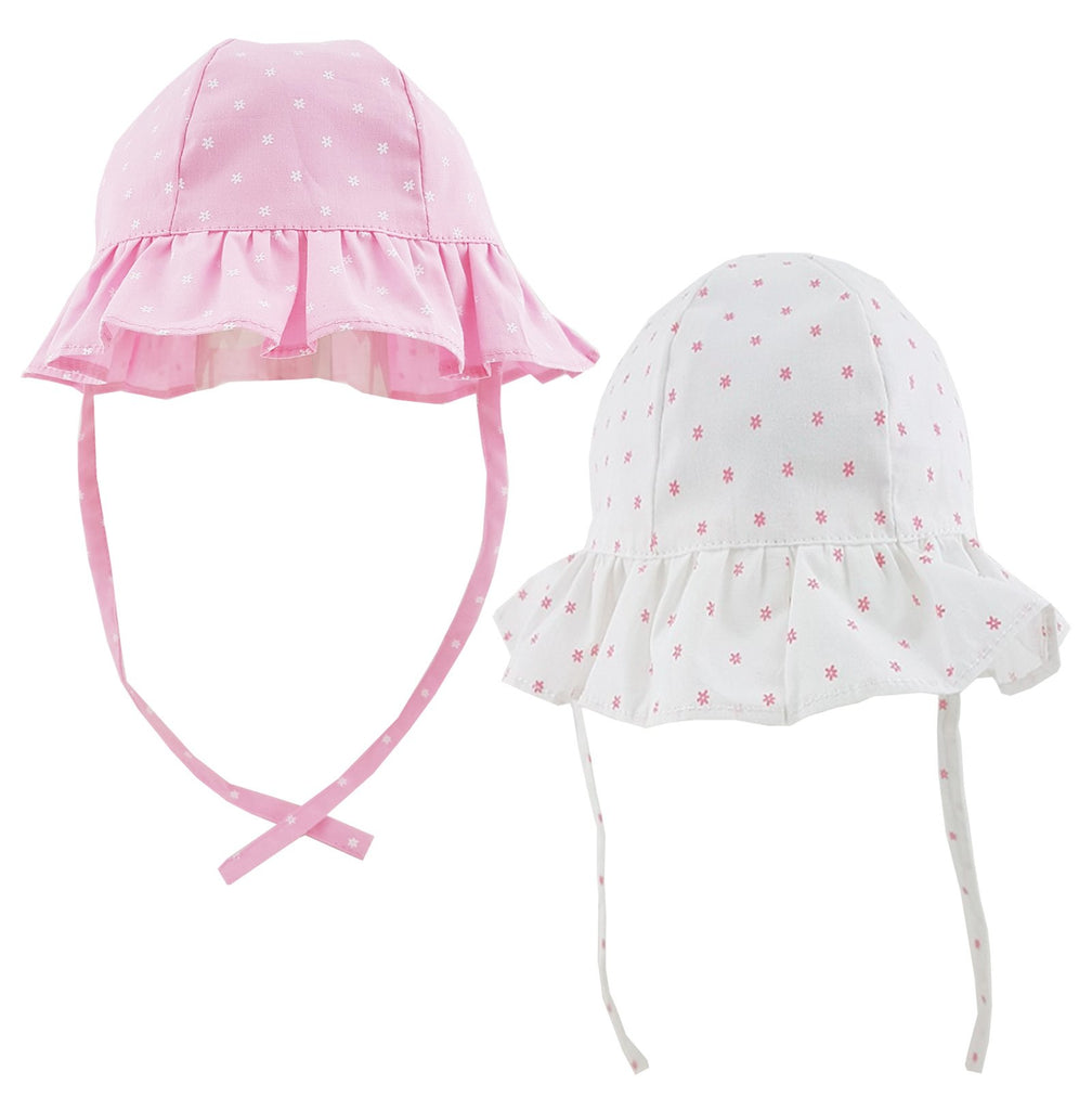 Pesci Baby Girls Sun Hat with Chin Strap and Bow