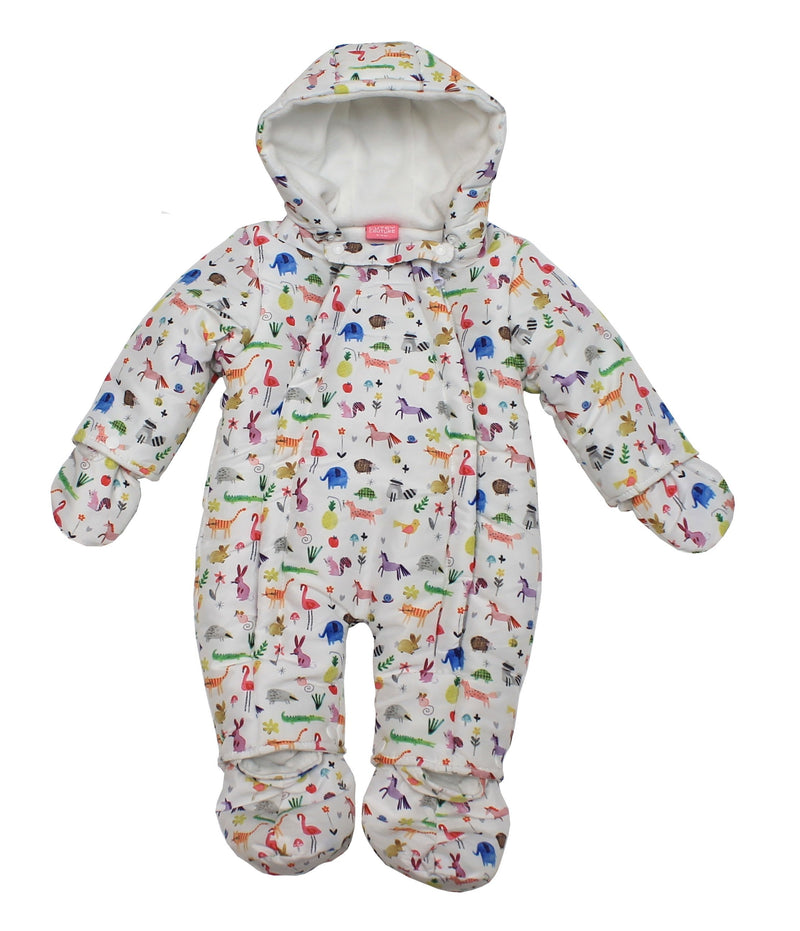 Baby Girls Micro Fibre Snowsuit - Unicorn - 0-9M (04JTC8267) - Kidswholesale.co.uk