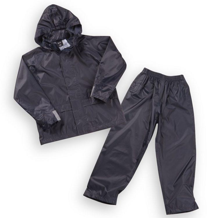 Kids Navy Waterproof Jacket & Pants Set (3-10 Years)(09c020)