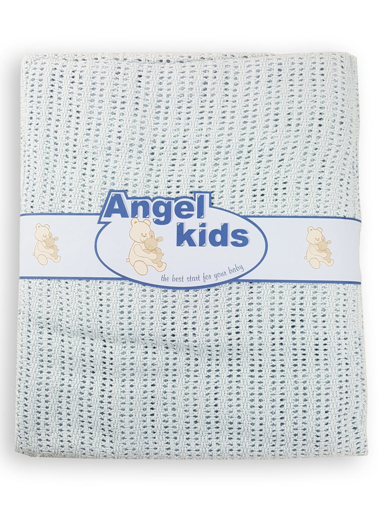 Cotton Cellular Pram Blanket-1095