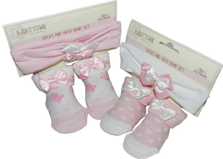 Baby Girls Headband and Socks Set