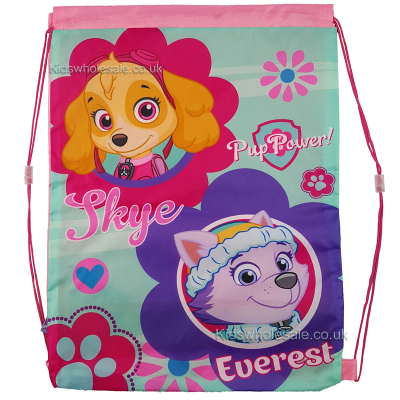 Paw Patrol Pup Power Shoe/Pull String Bag 41x30 (1101E-6192) - Kidswholesale.co.uk