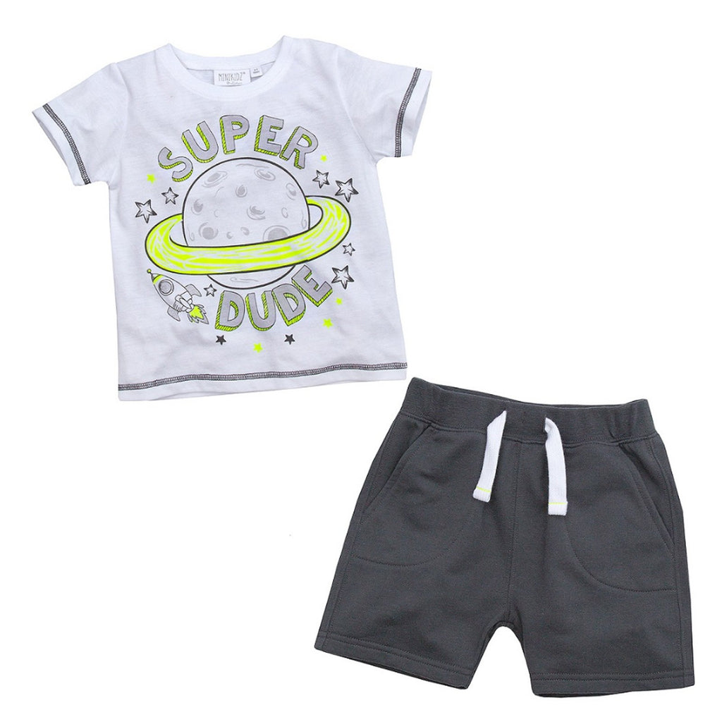 Infant Boys Space T-Shirt & Short Set (2-6 Years) 15C348