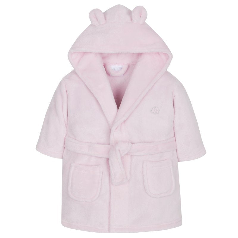 Girls Pink Supper Soft Hooded Dressing Gown (6-24 Months)-18C203