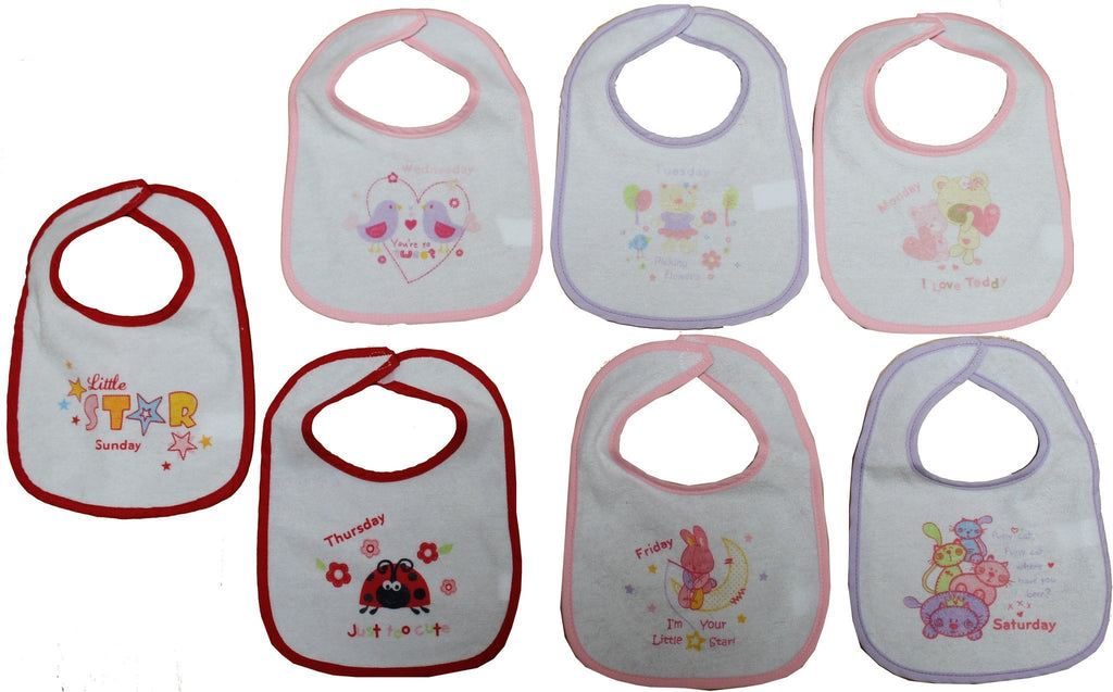 Girls 7  Days of the Week Bibs - (21jtc828)