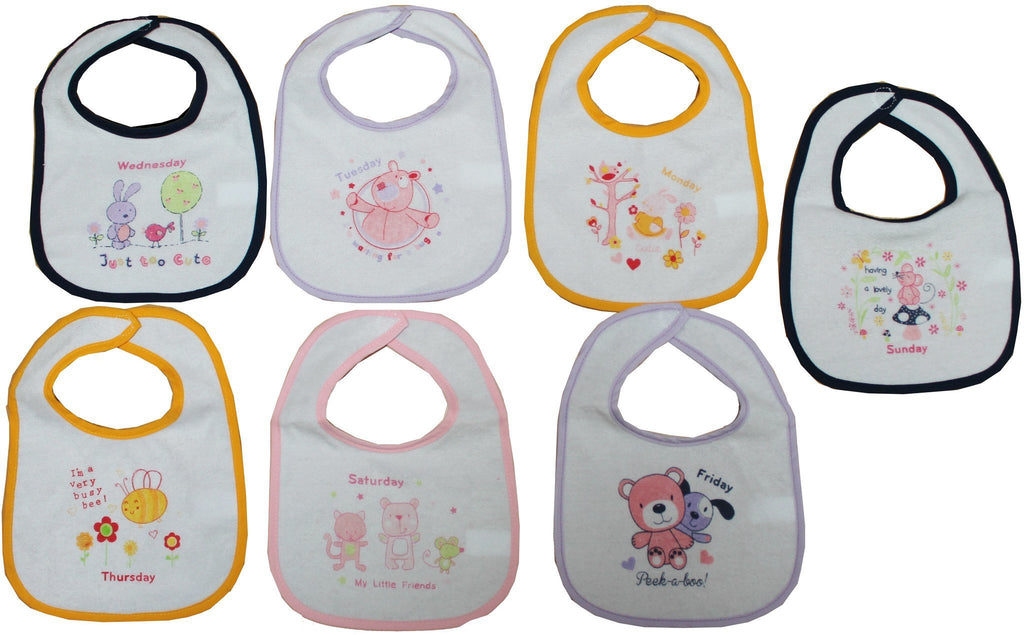 Girls 7  Days of the Week Bibs -