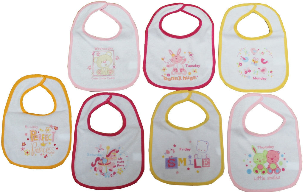 Girls 7  Days of the Week Bibs - (21jtc830)