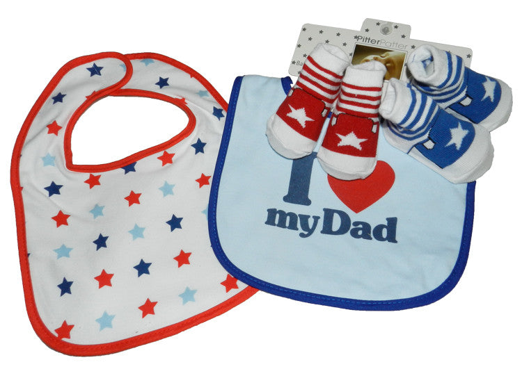 I Love Mum/Dad Bibs Set
