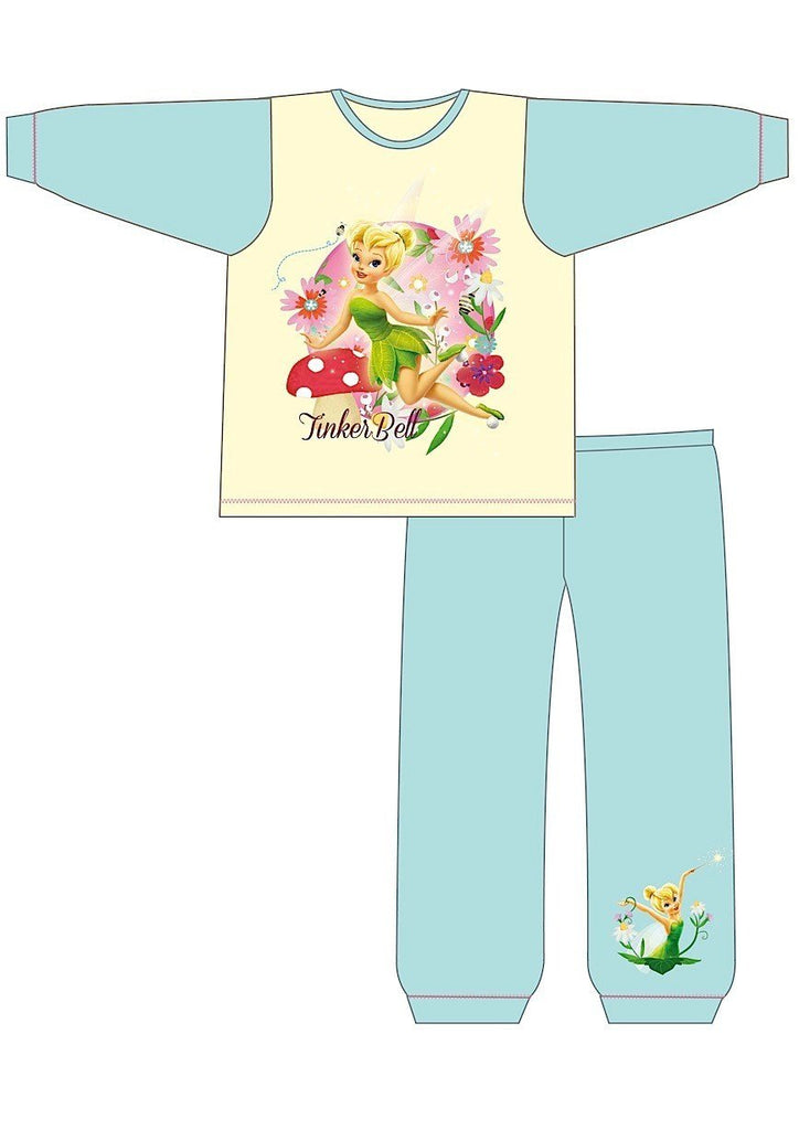GIRLS TODDLER TINKERBELL SNUGGLE FIT PJS(Z01_23078)