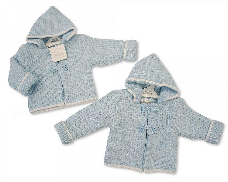 Knitted Baby Boys Pram Coat - 628(Bw 1016-628)