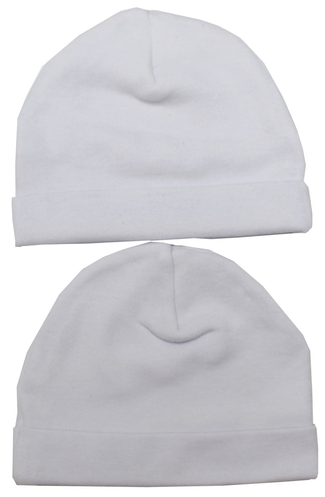 Babies Hats Twin pack - White - NB-3 Months  (40JTC1049)