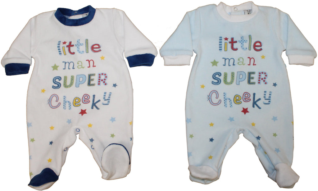 Velour Baby Grow - Super Cheeky - NB-6M (40JTC184)