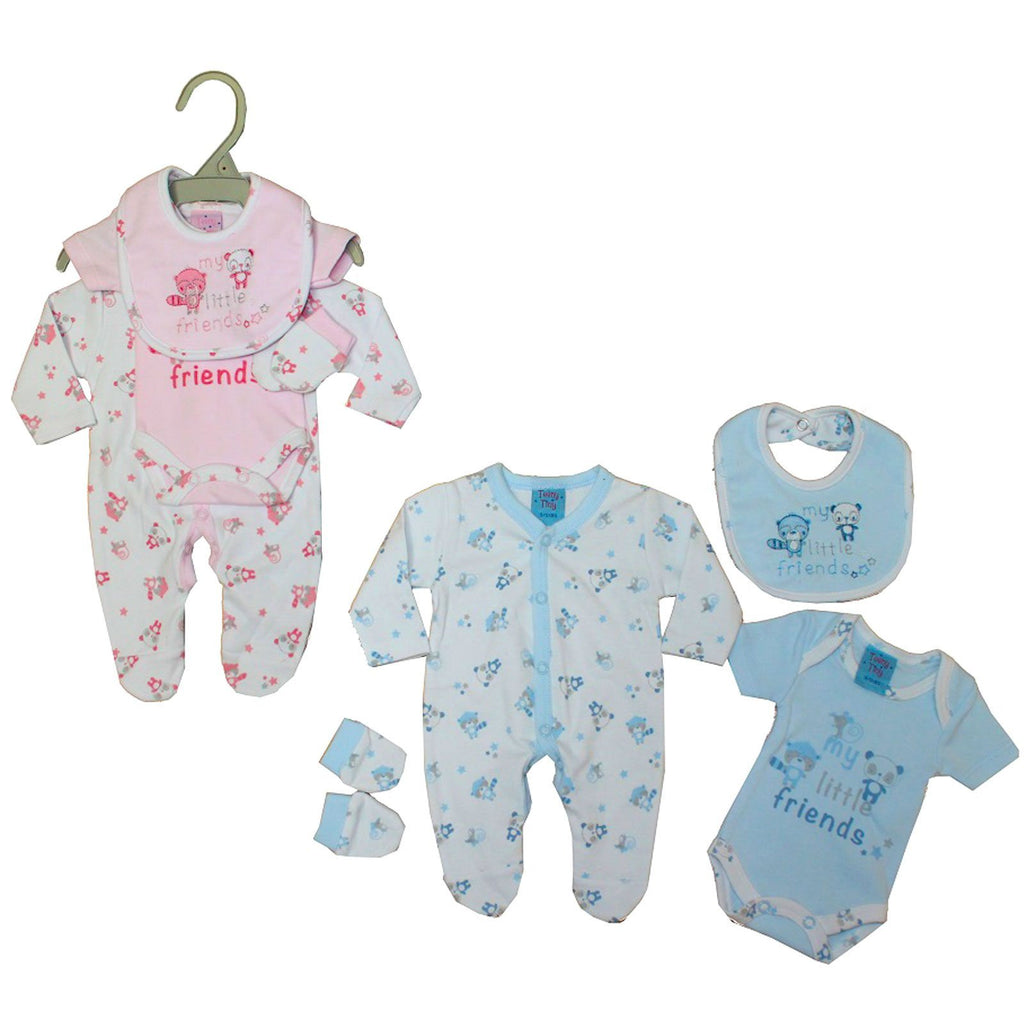 Premature Baby 4pc Gift Set - My Little Friends - 3-8 lbs (40JTC531)