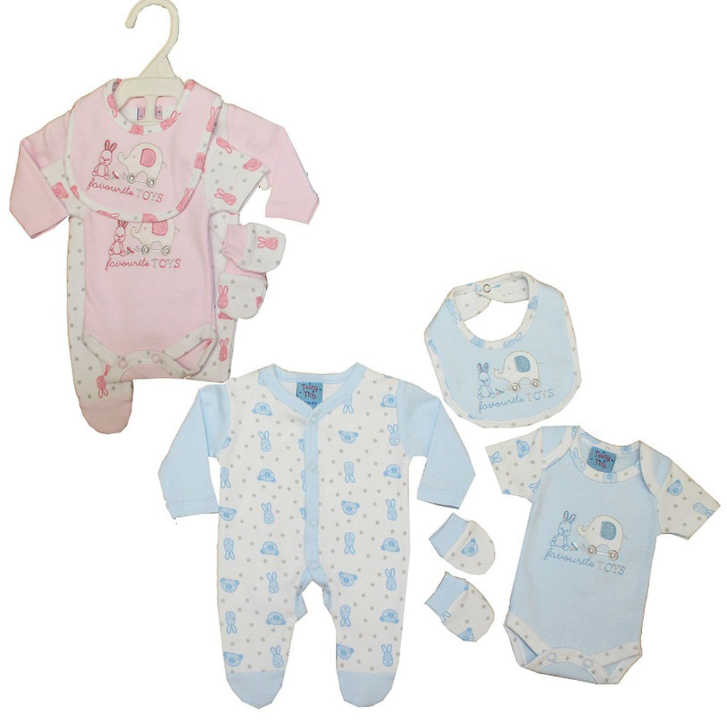 Premature Baby 4pc Gift Set - Favorite Toys - 3-8 lbs (40JTC532)