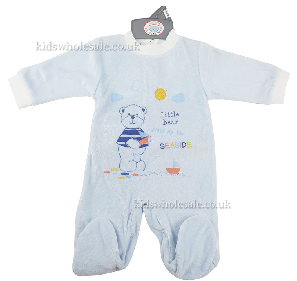 Baby Boys Printed Sleepsuit 'Little Bear' (40JTC867)