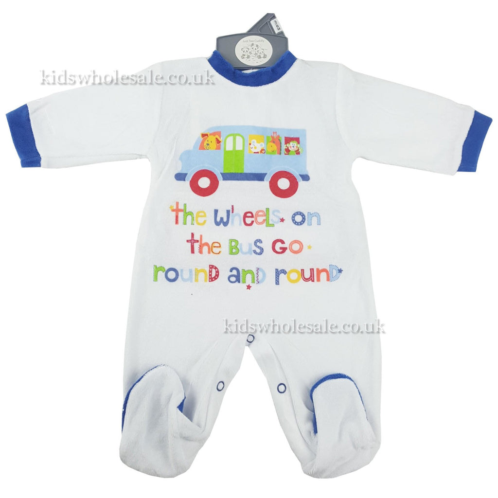 Baby Boys Printed Sleepsuit 'Wheels On The Bus' (40JTC870)