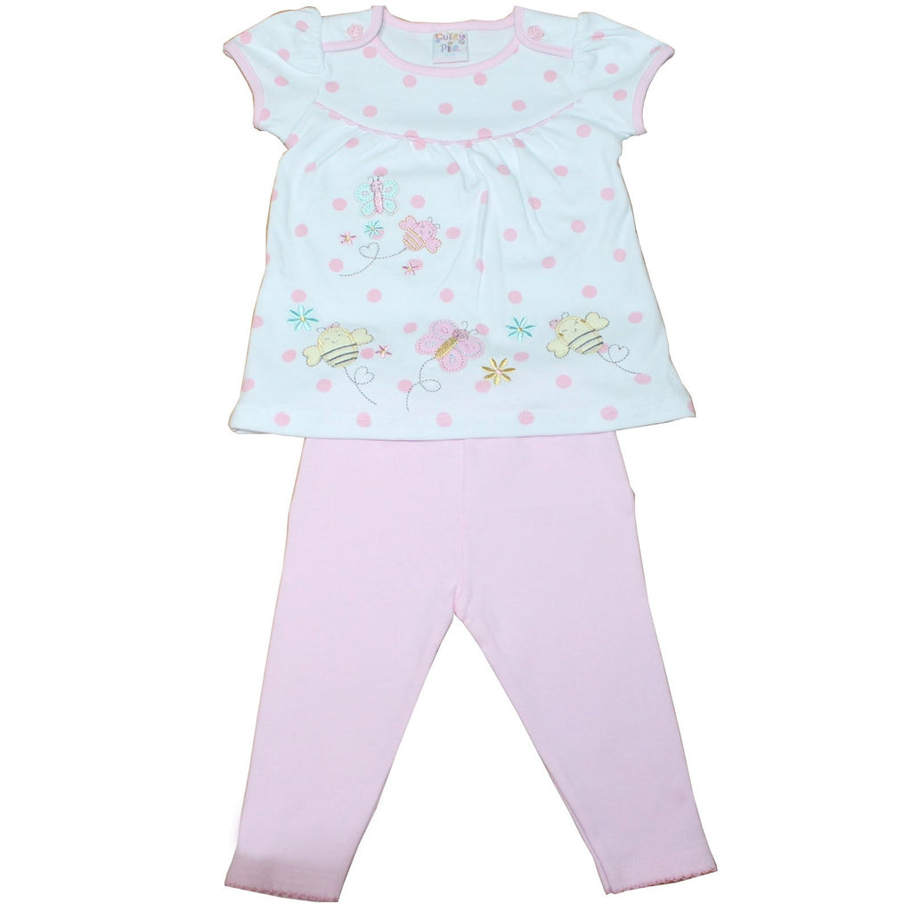 Girls 2pc Legging Set - Cute Bugs - 6-24M (40JTC125)