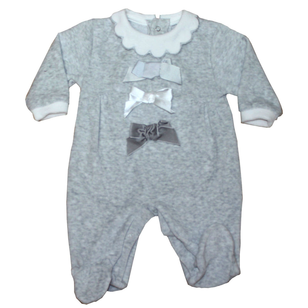 Baby Velour All in One - Grey - 0-9M (40JTC435)
