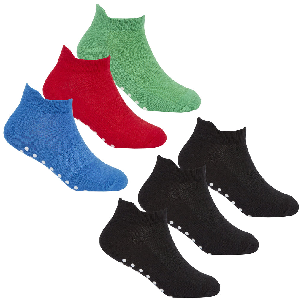 Boys 3 Pack Gym Socks With Grippers - (42B567)