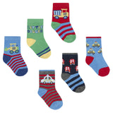 Baby Boys 3 Pack Design Socks - Vehicles  0-2.5 Only - 44B770