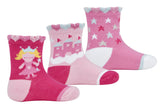 Girls Fairy Design Socks - Fuchsia Pink