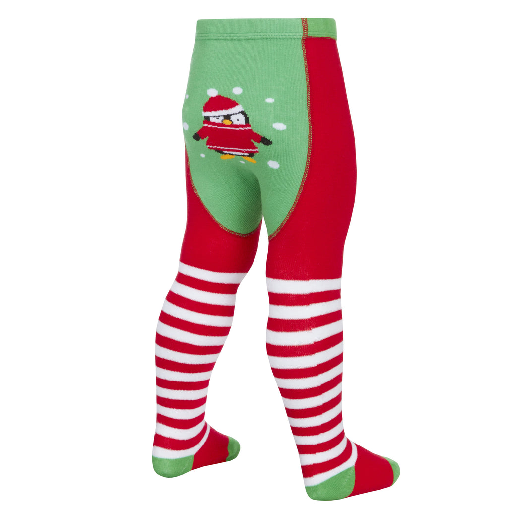 Baby Christmas Patch Panel Design Tights - 0-24 Months- (45B120)