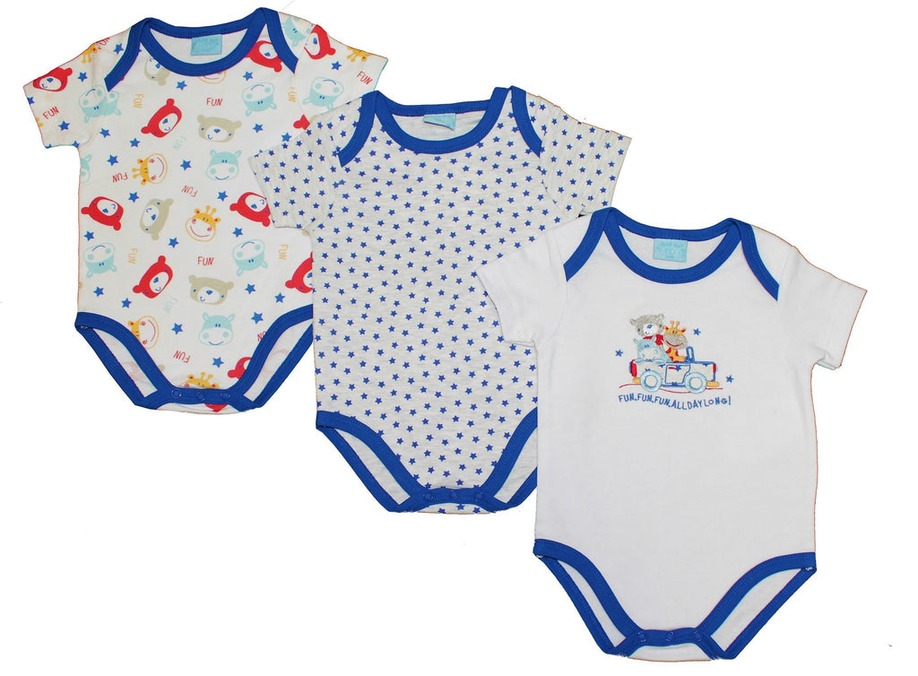 3 Pack S/S Boys Star Bodyvest (45JTC752)