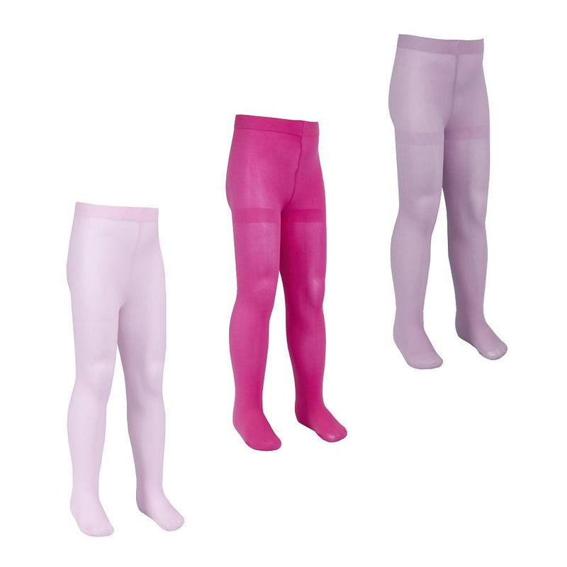 Girls Microfibre Tights - 60 Denier - 3-12 Years (46B437) - Kidswholesale.co.uk