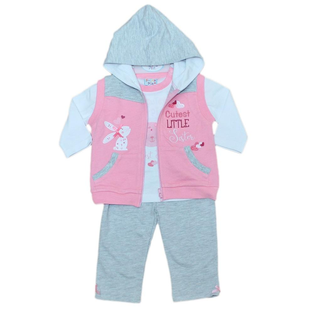 Baby Girls 3pcs Jogging Suit - Rabbit Little Sister - 6-24M (50JTC159)