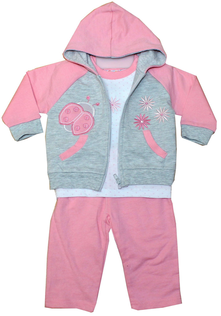 Baby Girls Jogging Suit - Ladybird - 6-24M (50JTC162)