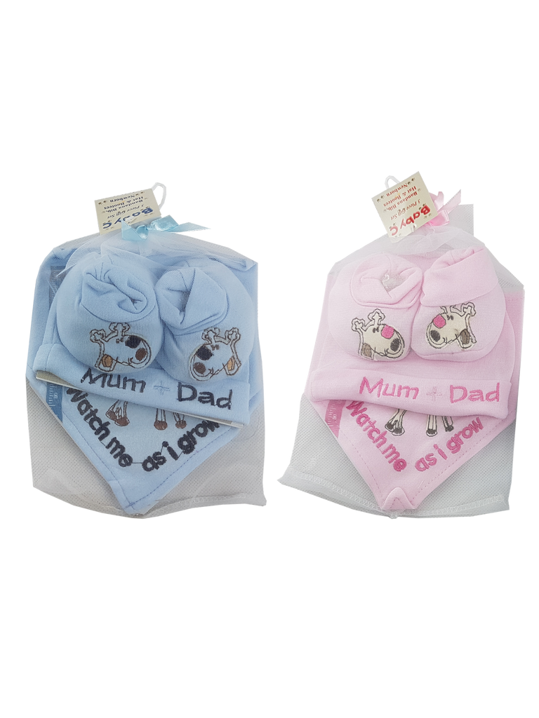 Organze Gift Set (Hat, Bib &Booties)