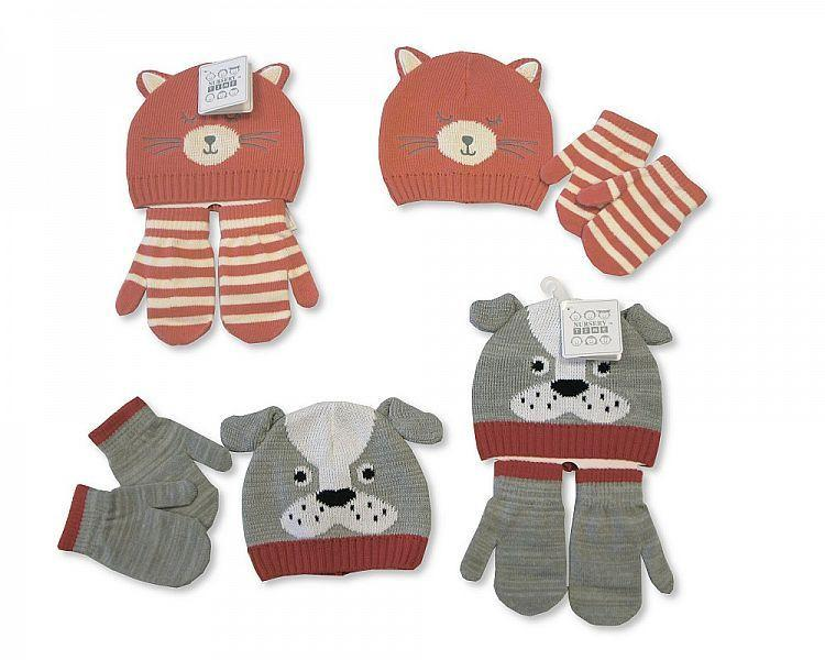Baby Knitted Hat and Gloves Set(Gp 2516-0684)