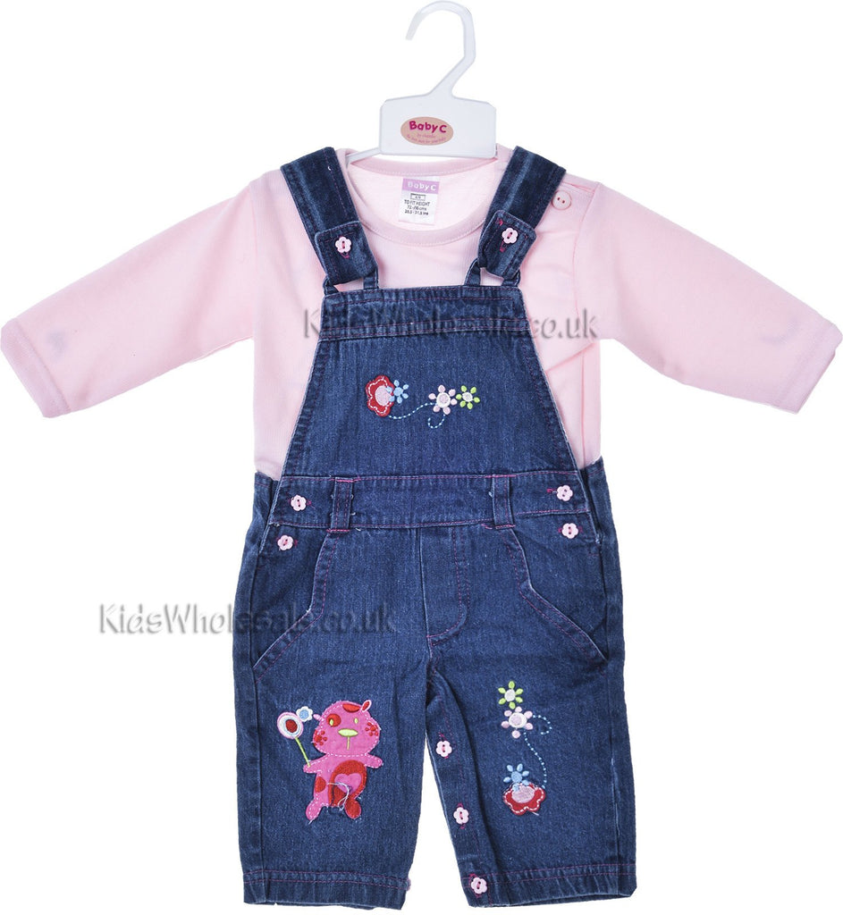 BABY DUNGAREE DENIM/T-SHIRT- (7168)