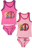 Minions Girls Vest and Brief Set (731-081)