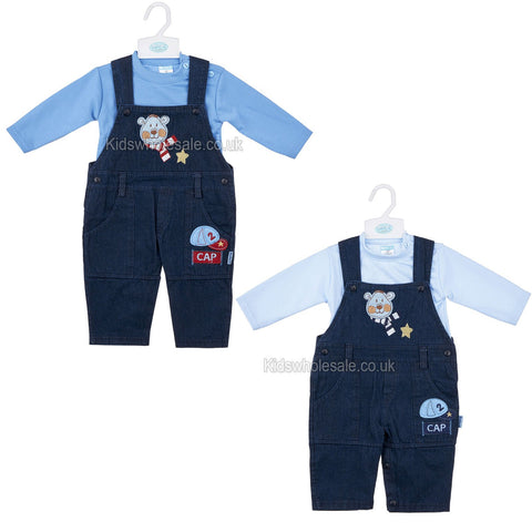 Baby Boys 2pc Set Dungaree - Good Boy NB-6 Months (Y1831)
