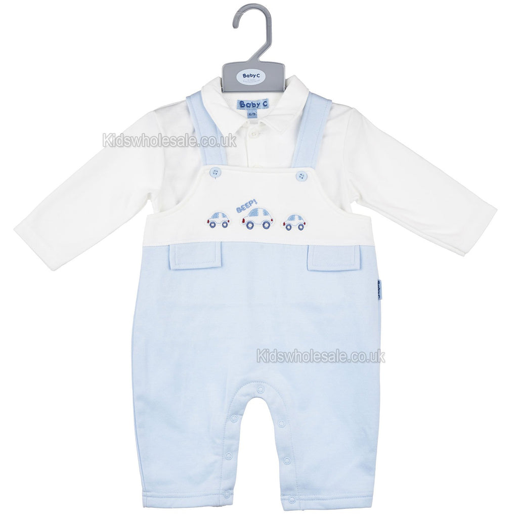 Baby Boys 2Pc Dungaree Set - Cars - 0-9M (7444)