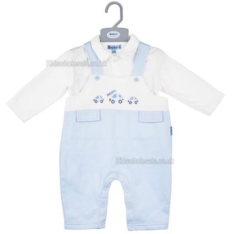Baby 4pc Cotton set - Teddy Bear - 0-6 Months (7283)
