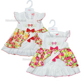 NEW Baby Girls Dress W/Headband - Roses - 6-23 Months (7486)