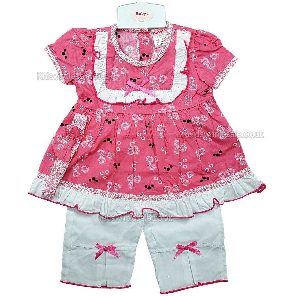 6adf7aadc NEW Baby Girls 3pc Trouser Set w/Headband - Floral - 0-9 Months ...