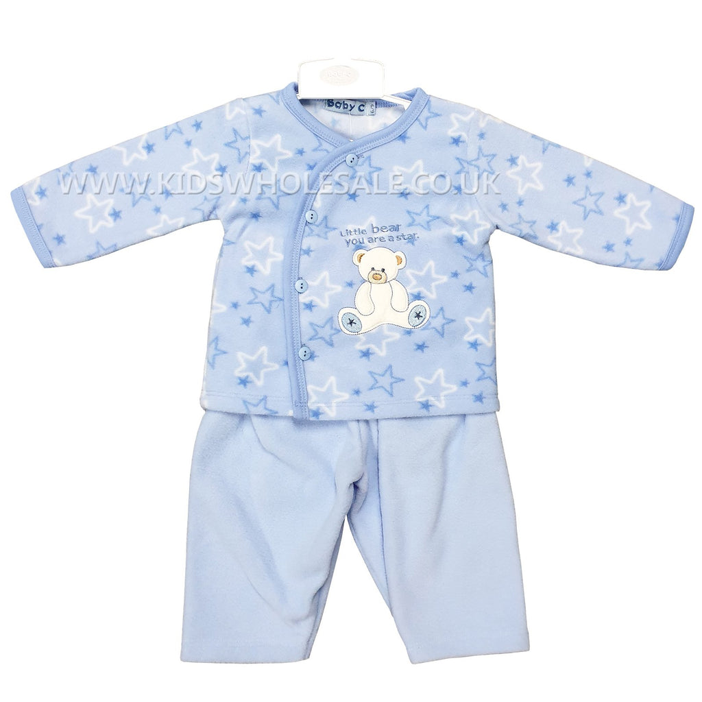 Baby Boys 2pc Micro Fleece Set - Teddy - 0-9M (7532)