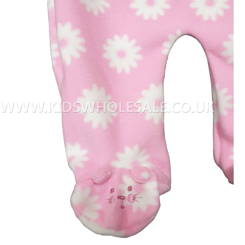 Baby Girls All In One Micro Fleece Set - Kitty - 0-9M (7533) - Kidswholesale.co.uk