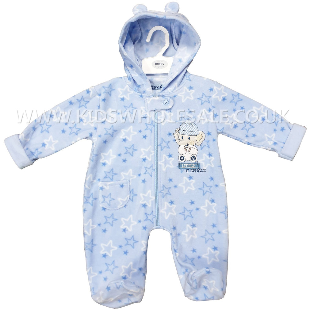 Baby Boys Hooded All In One Set - Little Elephant - 0-9M (7537)