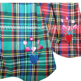Girls Tartan Dress Set  0-9M (7540)