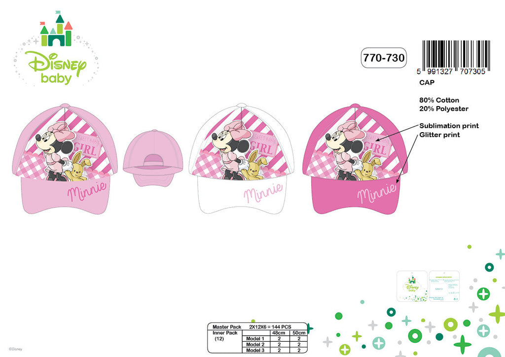 Minnie Mouse Baby Caps