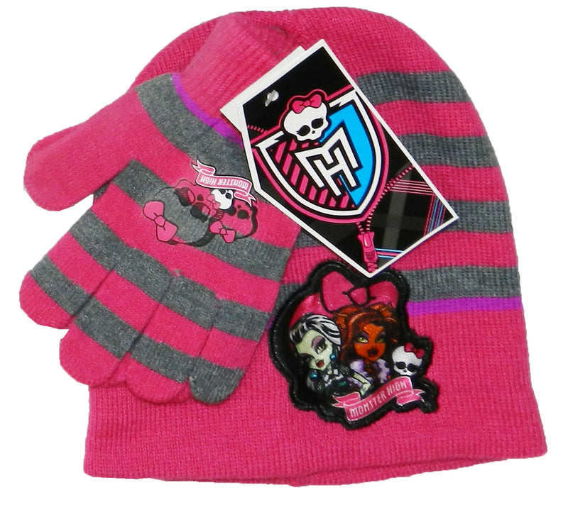Monster High Knitted Hat and Gloves Set
