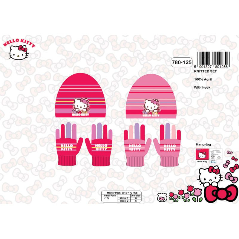 Official Hello Kitty Hats and Gloves Set