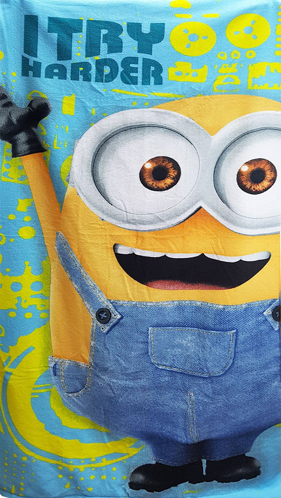 Minions Boys beach Towel Microfibre