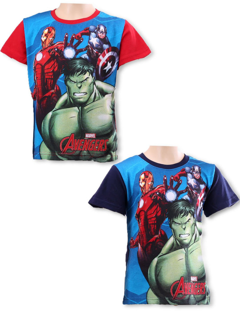 Avengers  round neck short sleeve T-Shirt (961-701) - Kidswholesale.co.uk