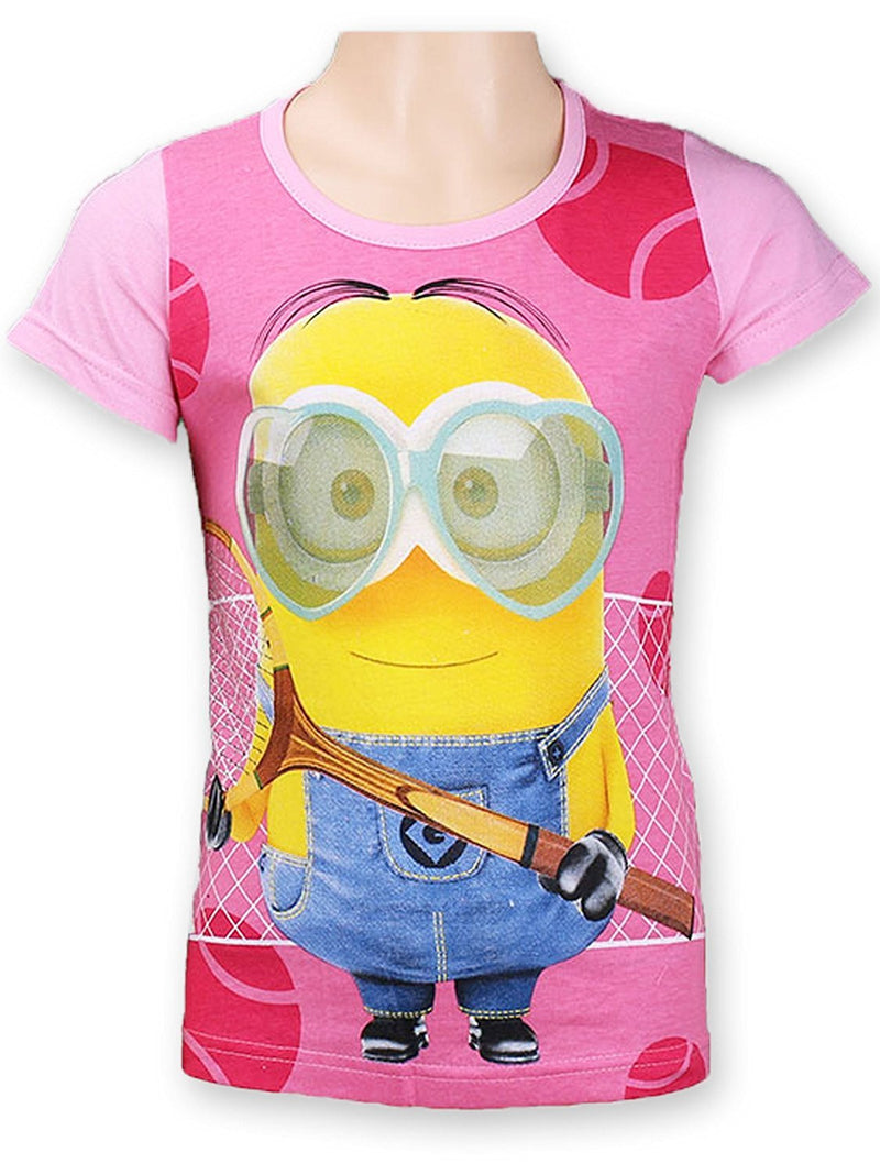 Girls Minions Tennis T-Shirts 4-12 Years (961-744) - Kidswholesale.co.uk