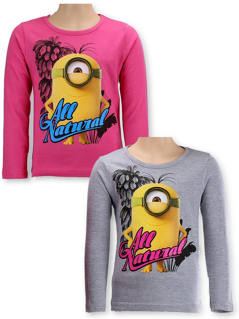 Girls Long Sleeve Minions T-shirt 6-12 Years (961-775)